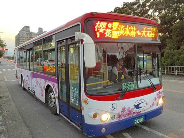 天元宮櫻花季期間2019/2/28~3/31新增了兩條接駁公車
