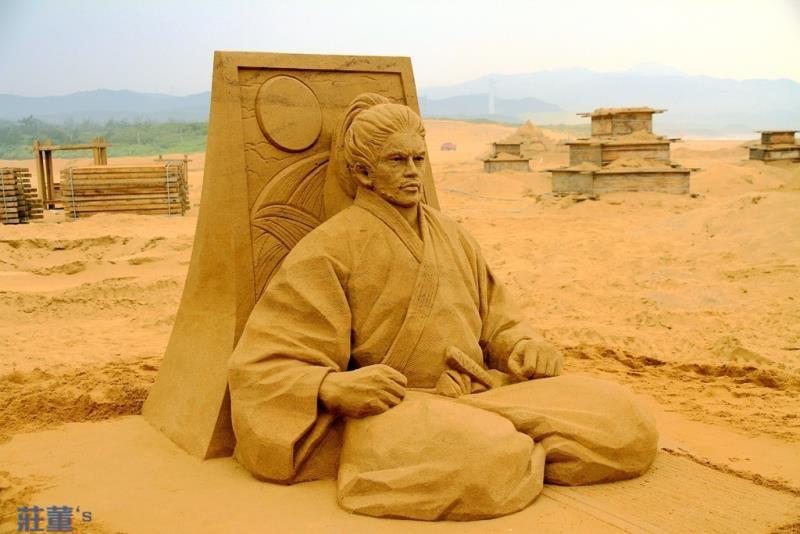 2017國際賽第1名-日本的沙雕師保坂俊彥作品「宮本武藏」榮獲第1名及金鏟獎.jpg