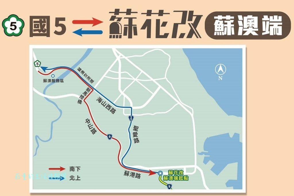 國道5號如何接 新台9線蘇花改