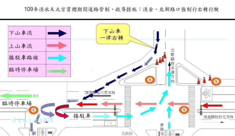 淡水天元宮櫻花2020接駁車