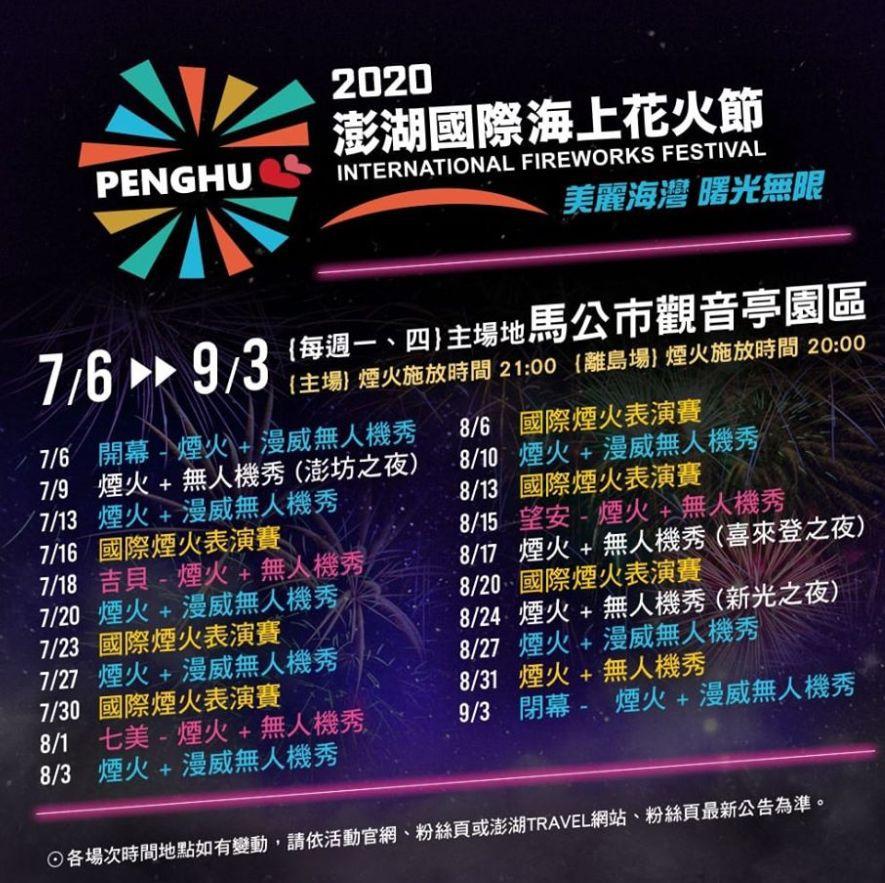 台東展覽活動2020推薦 澎湖海上花火節2020