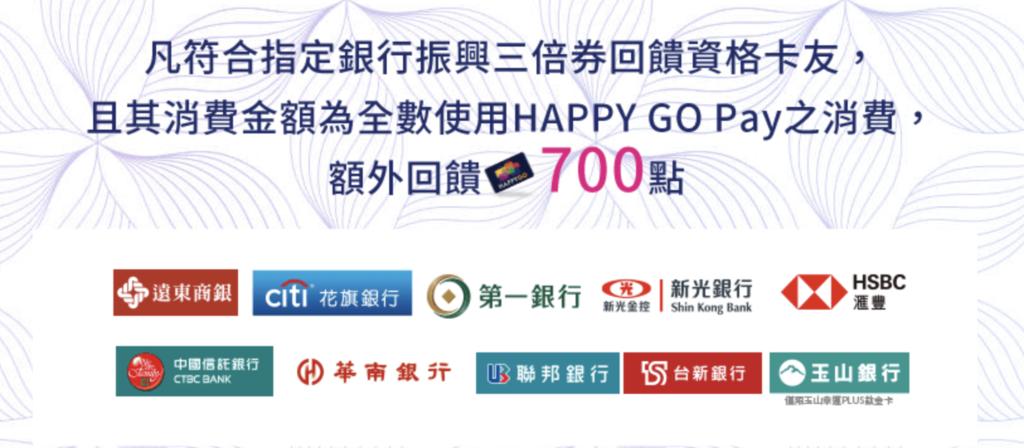 振興券信用卡 HappyGo加碼點數