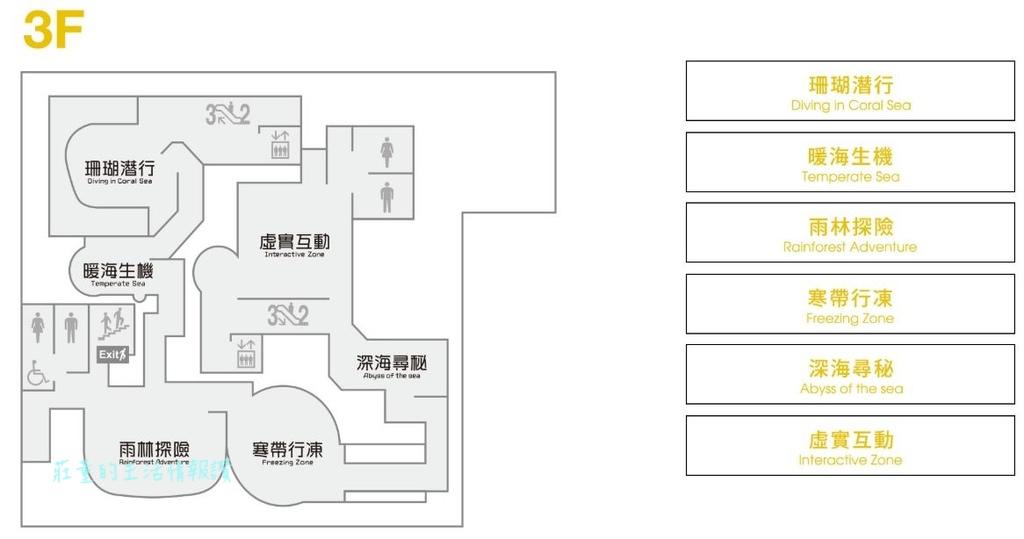桃園水族館Xpark樓層簡介 3F