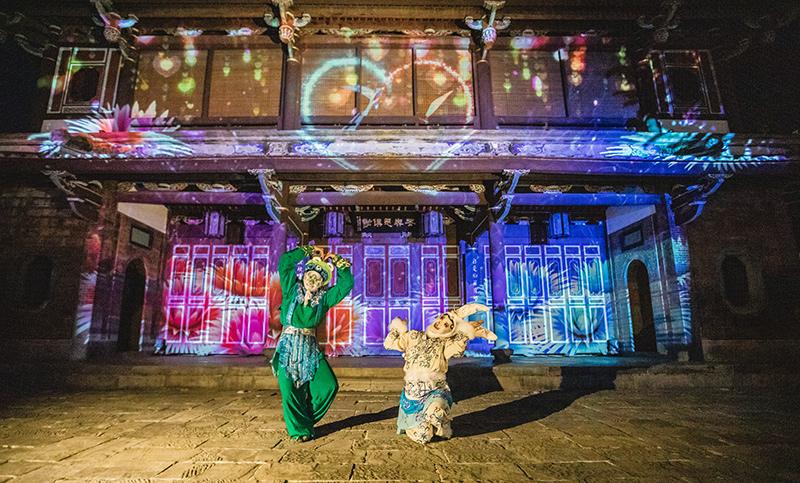 新北市展覽活動2020推薦  林家花園光雕 ~12/26,每週五、六19:00-20:30,每15分鐘一場