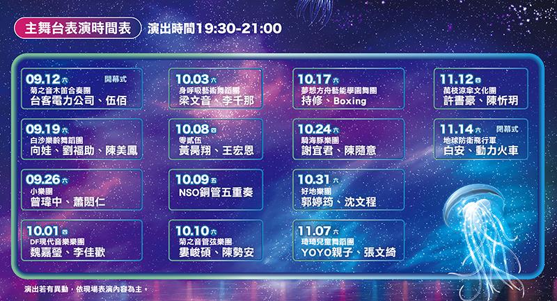 2020澎湖國際海灣燈光節 卡司 演唱會