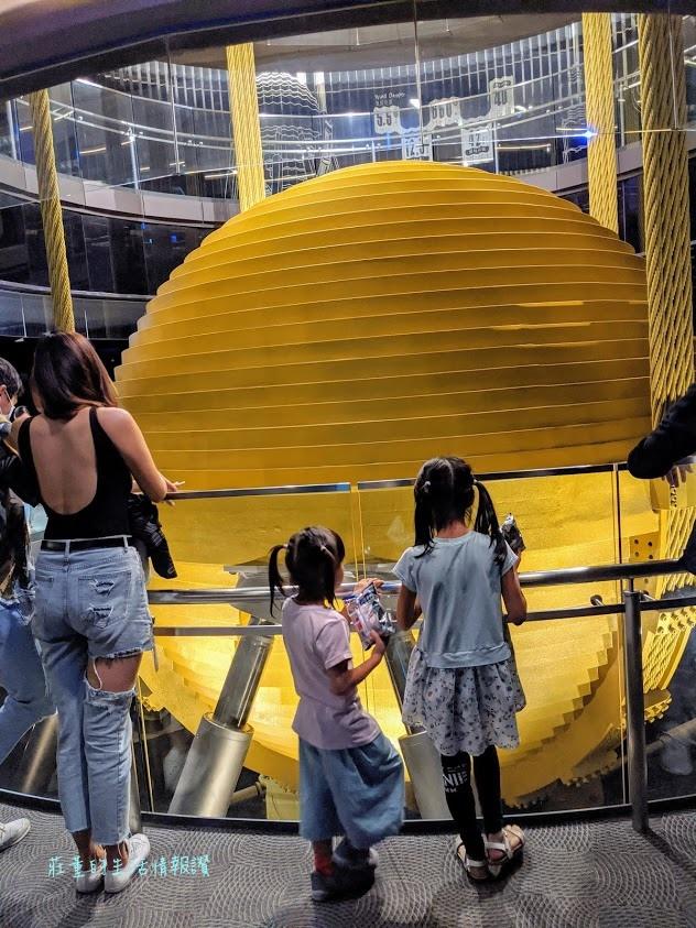台北101景觀台 風阻尼球