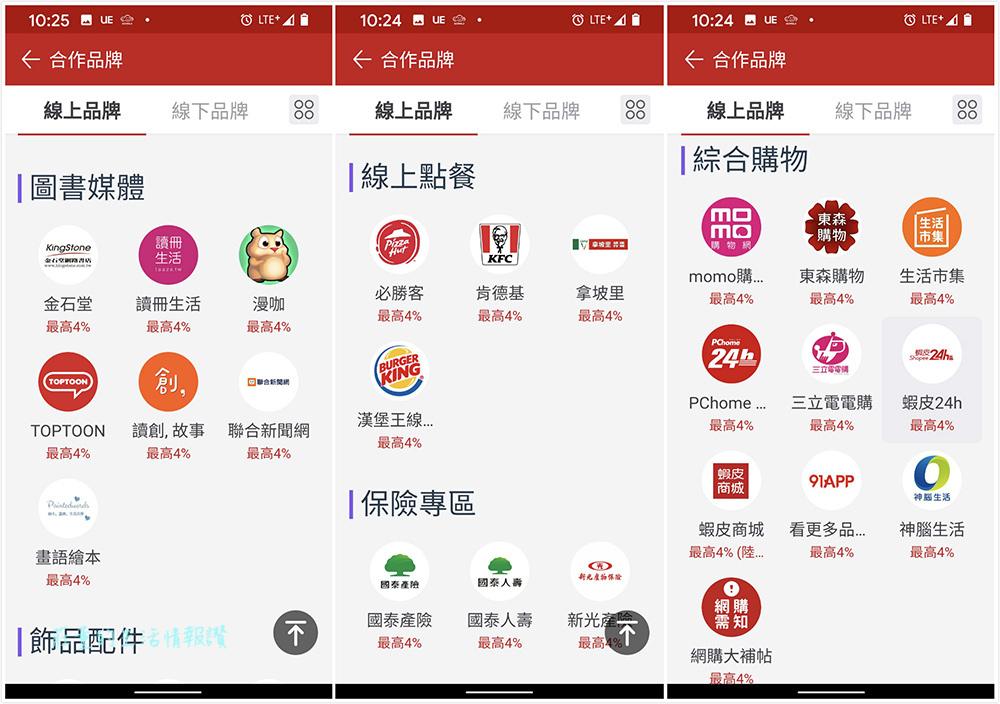 匯豐匯鑽卡 LINE Pay 適用通路