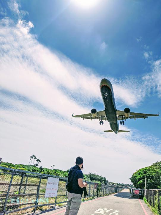 濱江街飛機巷看飛機