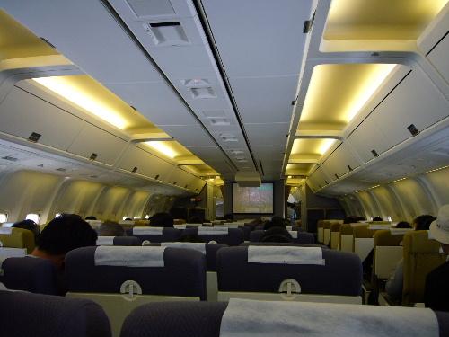 去程飛機沒有個人電視