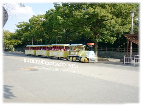 在這個大阪城公園的最外圈有小火車可搭...但是班次只到四點吧!!所以沒搭到...
