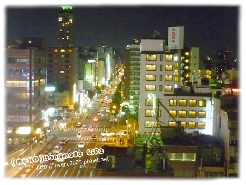 從飯店拍出去的大阪夜晚街景...