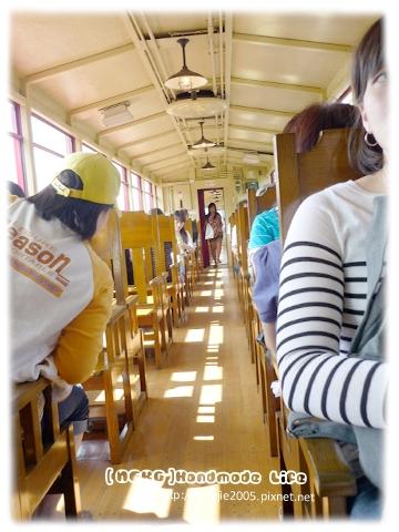 龜岡小火車內部很漂亮喔!