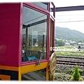 龜岡小火車的車頭,沒拍到正面啊XD