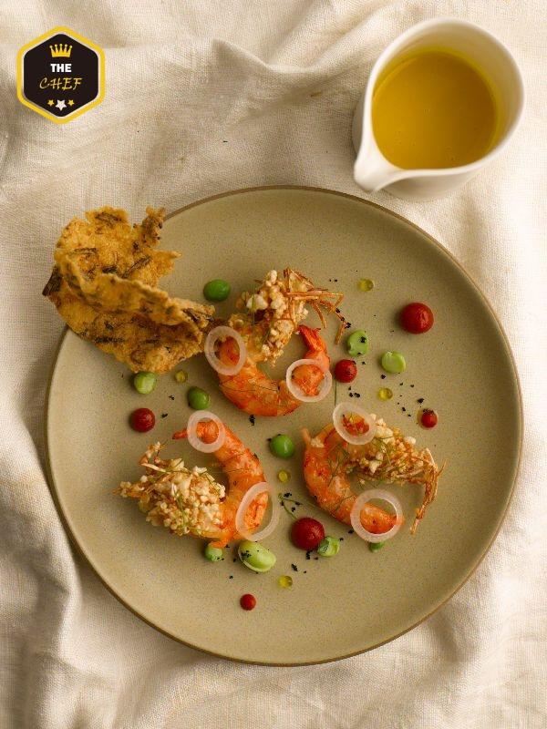 09. Dish- RAW_蝦 番紅花 胭脂椒 Paella Prawn Piquillos.jpg