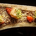 Bone marrow, reduced tomato and fennel seeds.jpg