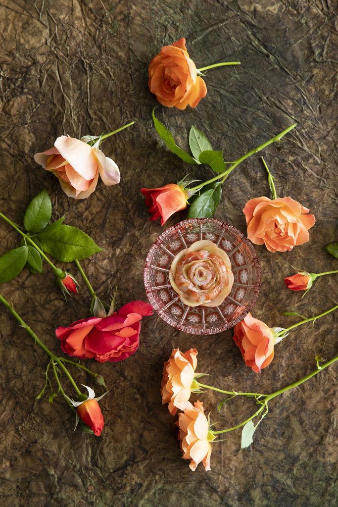 Rosace de gamberoni de San Remo: Mirazur Flowers Universe @matteoCarassale .jpg