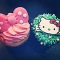 kitty杯子蛋糕