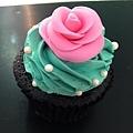 玫瑰花 杯子蛋糕