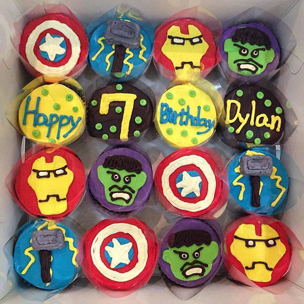 marvl超人系列杯子蛋糕