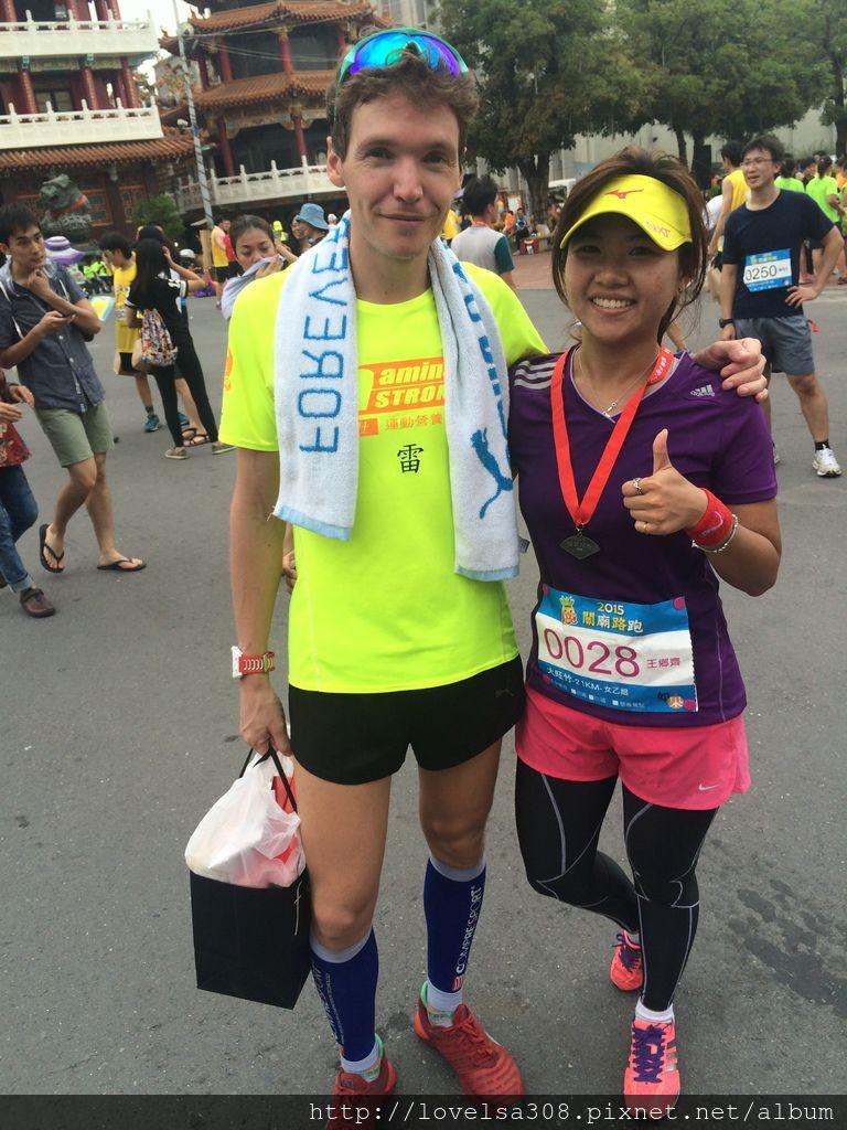 May 10, 2015 第一屆關廟路跑-巧遇好友吉雷米