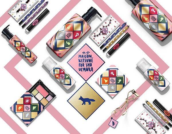 2015 植村秀 Maison Kitsune 聖誕彩妝系列產品主視覺