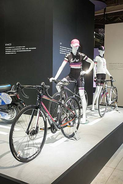 女性自行車品牌LIV以代表純潔的施華洛世奇雪絨花元素打造水晶展品,為驅動工業設計點綴!