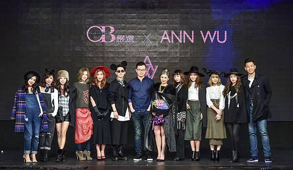 OB嚴選營運長張祐誠、黑人陳建州、設計師ANN、吳思賢和model合影