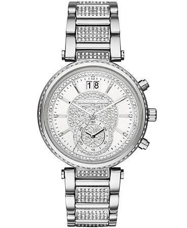 Michael Kors SAWYER系列水鑽鍊帶錶款NT$18,460