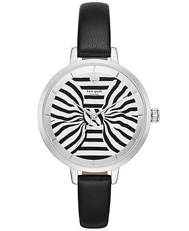 Kate Spade New York條紋蝴蝶結計時腕錶$8,000(KSW1032)