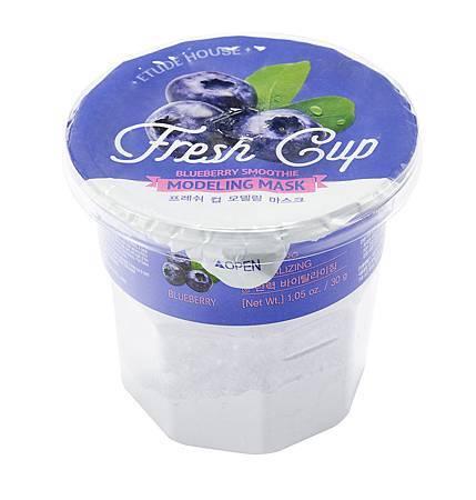 ETUDE HOUSE 鮮果杯~粉凝凍彈力面膜(藍莓+膠原蛋白)
