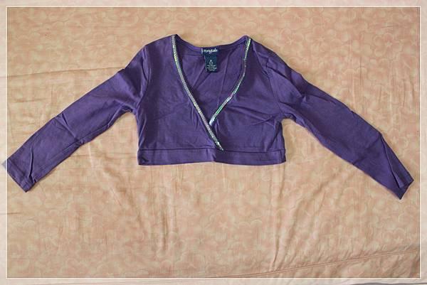 二手-紫色短擺衣