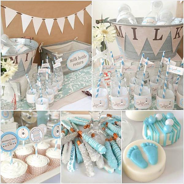 Cookies-and-Milk-Birthday-Party-Baby-Shower-ideas-via-KarasPartyIdeas_Fotor_Collage