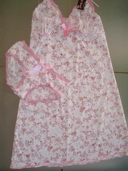 A4 - 白色花花两套式睡衣 - SOLD OUT