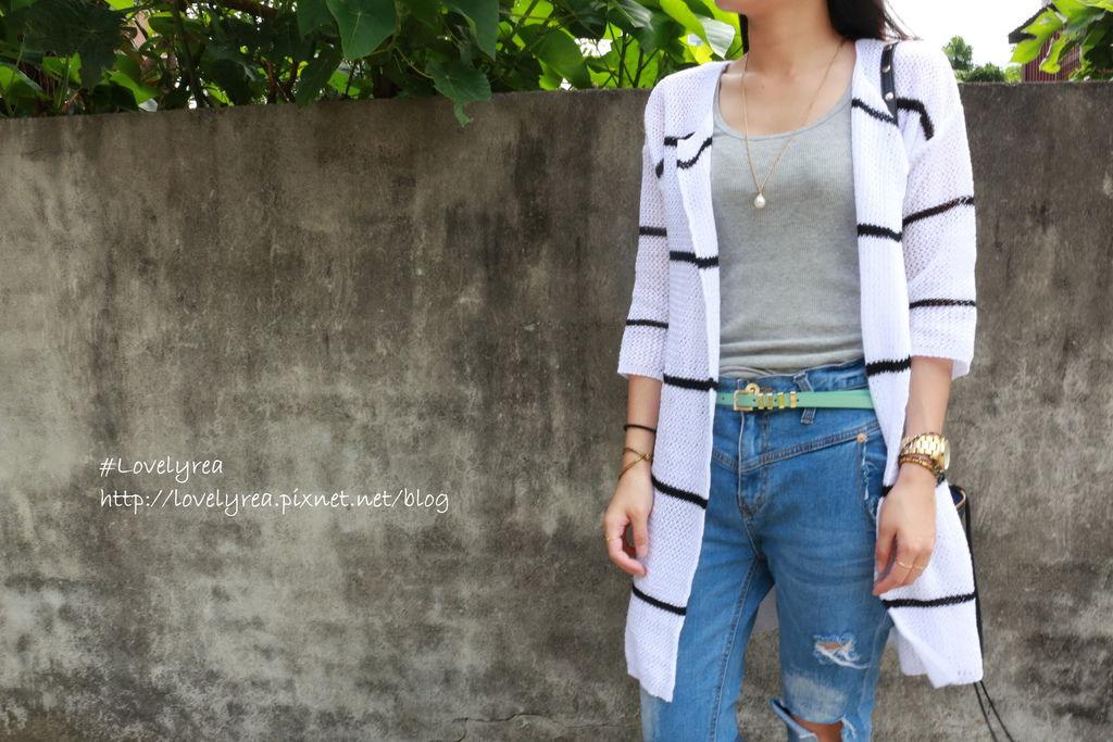 白條紋外套 (2)