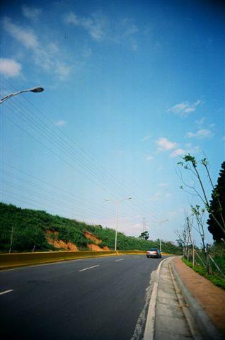 林口體院旁的道路
