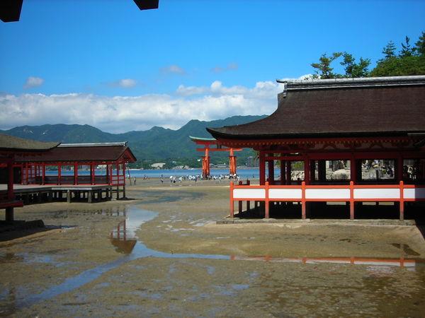 已經快退完全潮的嚴島神社