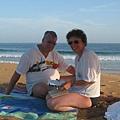 2004德國夫婦黃昏在山水海灘