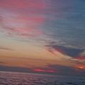 黃昏時的彩霞