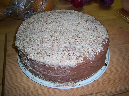 Oct232010 Mocha Sponge Cake with chpooed almond