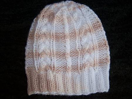 Jan192012 Cable Pattern Hat by Lion Brand Yarn