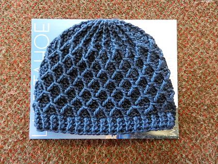 Mar052012 Lattice Hat-DK country blue