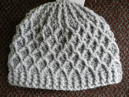 Mar112012 Lattice Hat - light gray
