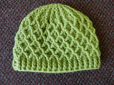 Mar122012 Lattice Hat - lime green