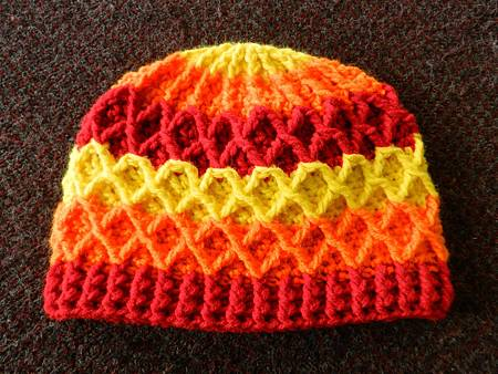 Mar132012 Lattice Hat - yellow orange red