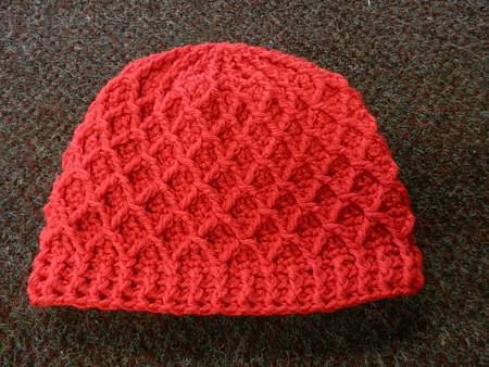 Mar282012 Lattice Hat - red