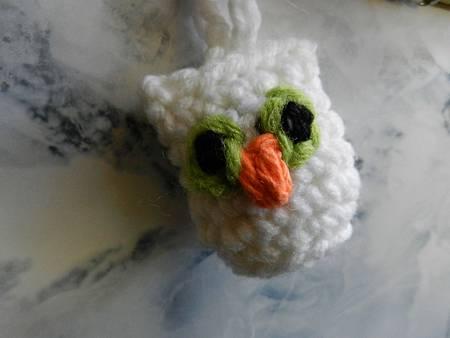 Apr152012 Austin Owl Amigurumi - white