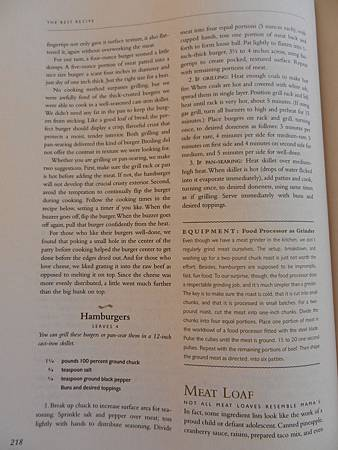 The Best Recipe p. 218 Hamburgers