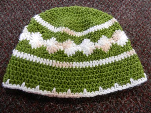Dec222012 Starburst Hat - lime green