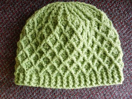 Jan152013 Lattice Hat - lime green