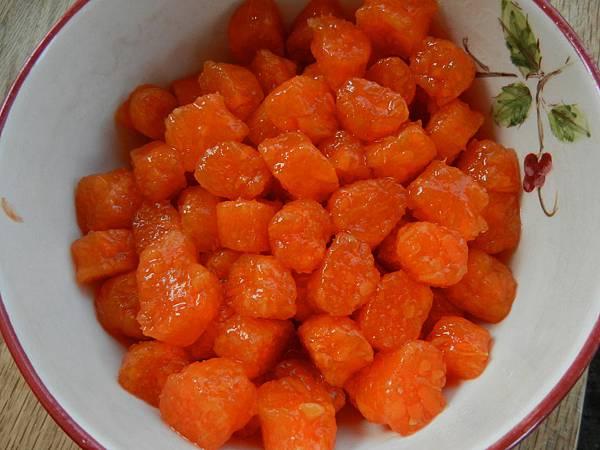 Apr292013 紅蘿蔔圓 carrot gnocchi